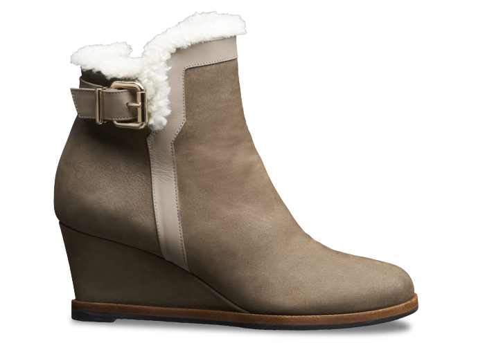 Fendi Booties - Wedge bootie in shearling