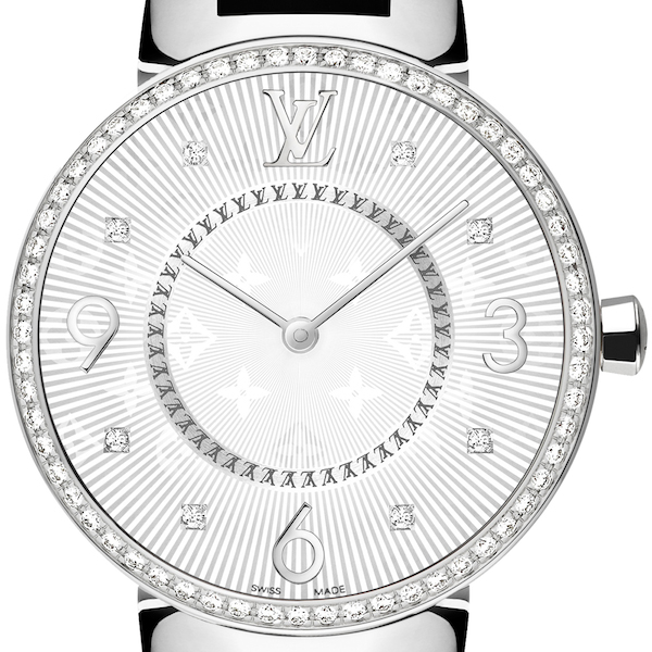 Louis Vuitton - Tambour Monogram 33mm - Steel & Diamond