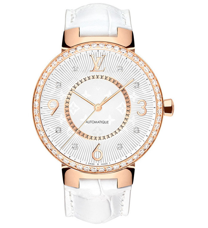 Louis Vuitton - Tambour Monogram 35mm - Pink Gold & Diamond