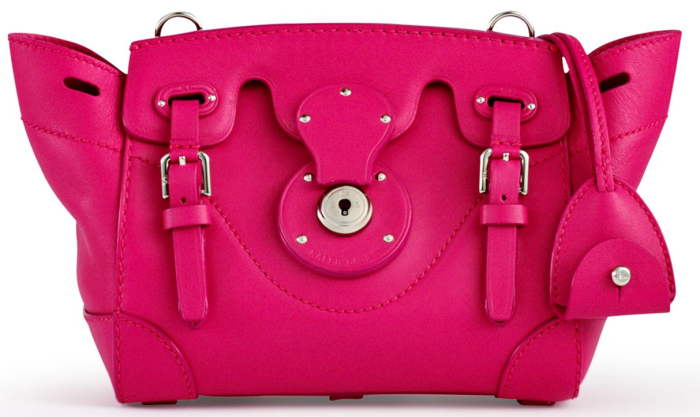 Ralph Lauren Soft Ricky 18 Cross-Body Bright Pink 1