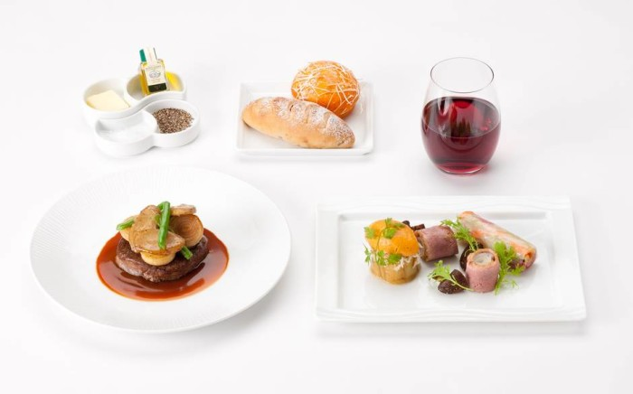 ANA business class - International food