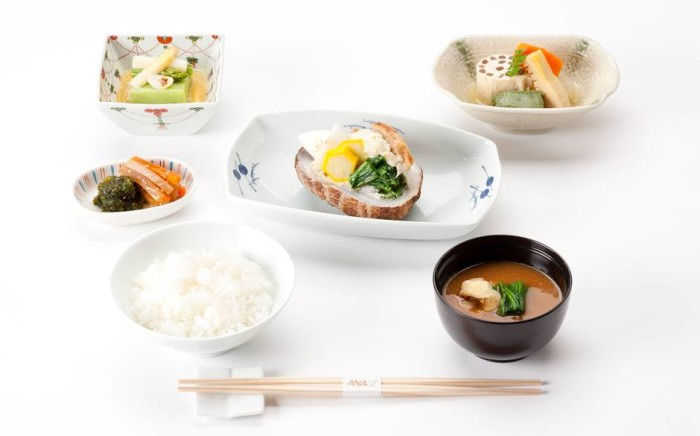 ANA business class - Japanese food