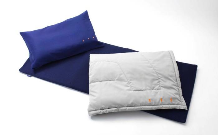 ANA business class - bedding