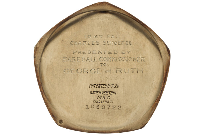 Babe Ruth's 1923 Yankees World Series Gruen Pocket Watch 2