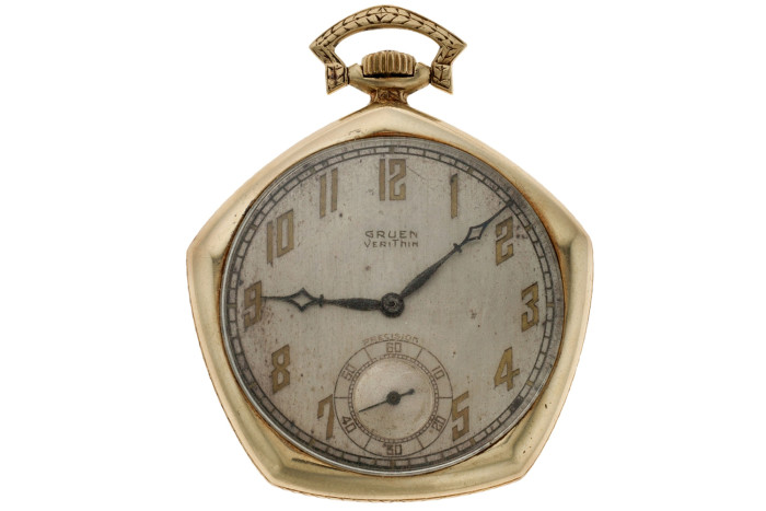 Babe Ruth's 1923 Yankees World Series Gruen Pocket Watch 4