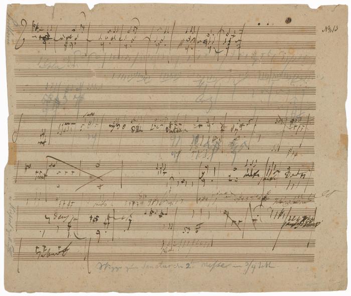 Beethoven's Sketchleaf For The Missa Solemnis