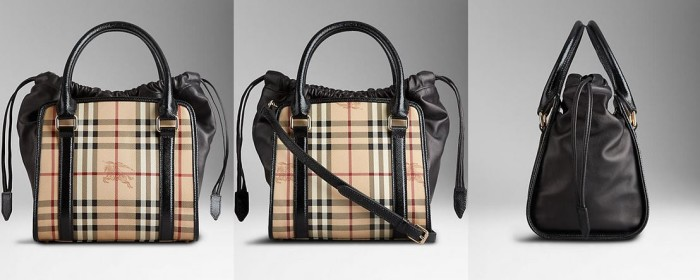 Burberry - SS  2014 Haymarket Check Detial Patent Bag 2