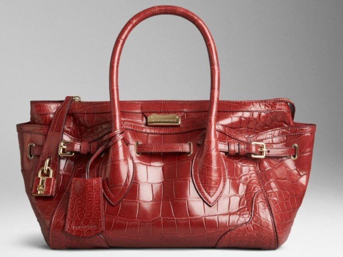 Burberry - SS  2014 Med Alligator Tote 1
