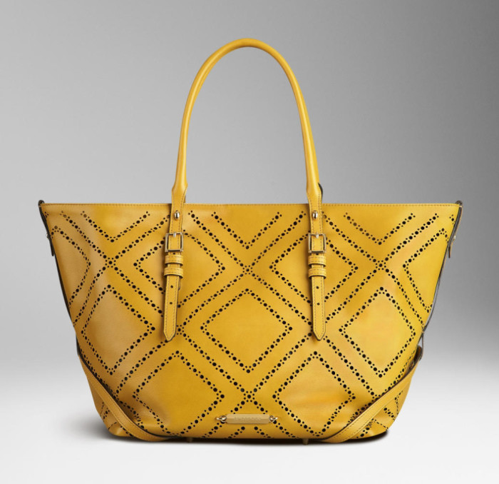 Burberry - SS  2014 Medium Brogue Detail Leather Tote Bag 1
