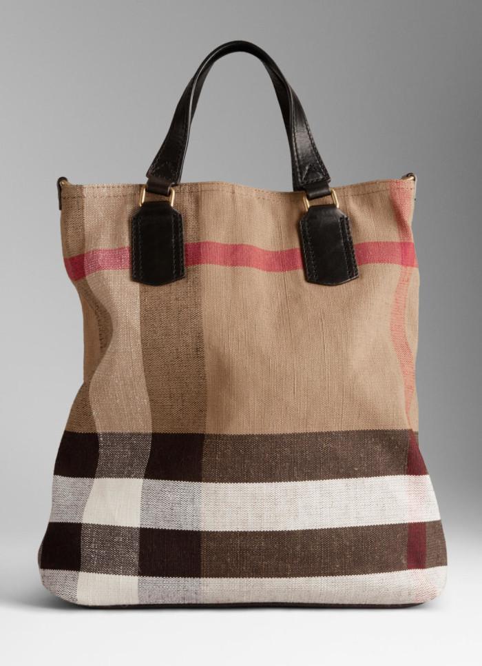 Burberry - SS 2014 Medium Canvas Check Tote Bag 1
