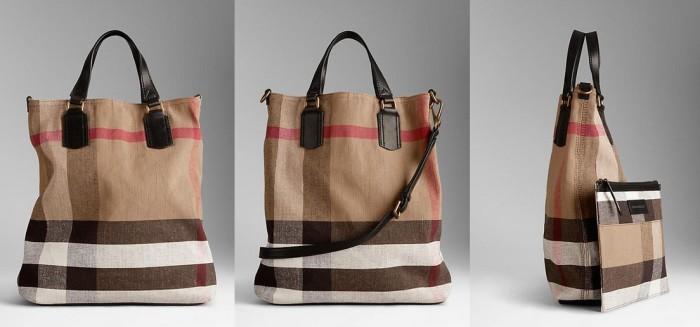 Burberry - SS 2014 Medium Canvas Check Tote Bag 2