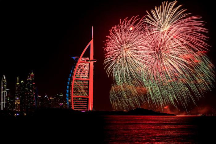 Dubai New Years Fireworks 2