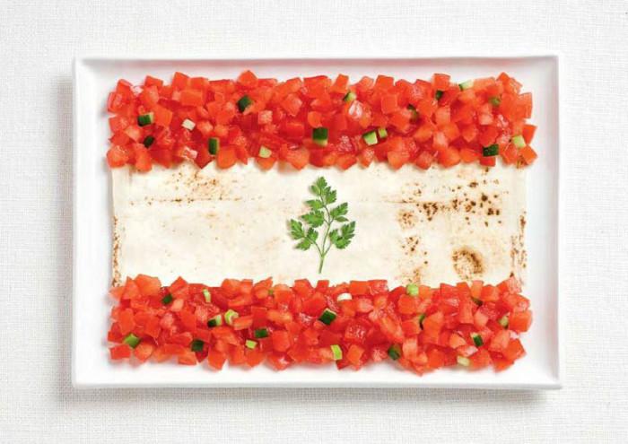 National Food Flag - Lebanon