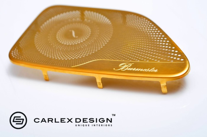Carlex Design 24k Gold Trimmed Mercedes 2