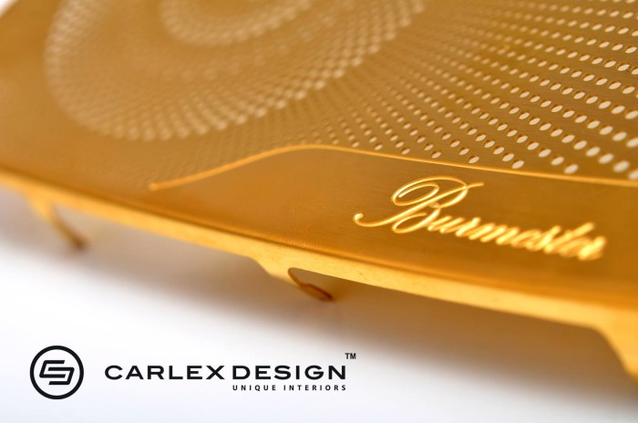 Carlex Design 24k Gold Trimmed Mercedes 7
