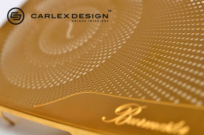 Carlex Design 24k Gold Trimmed Mercedes 8