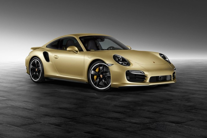 Porsche Gold Painted 911 Turbo Coupe 1