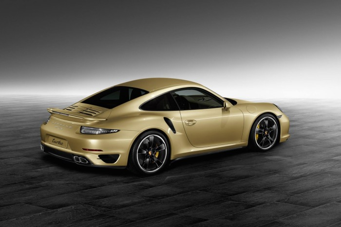 Porsche Gold Painted 911 Turbo Coupe 2
