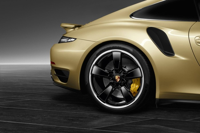Porsche Gold Painted 911 Turbo Coupe 4