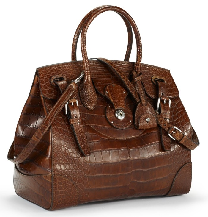 Ralph Lauren - Soft Ricky Bag Vintage Brown Matte Alligator 1