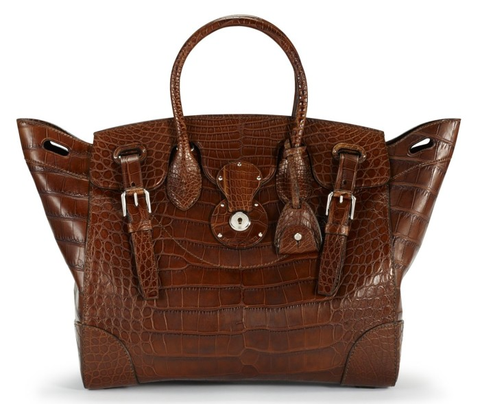 Ralph Lauren - Soft Ricky Bag Vintage Brown Matte Alligator 2