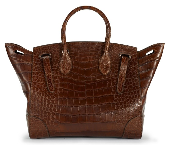 Ralph Lauren - Soft Ricky Bag Vintage Brown Matte Alligator 3