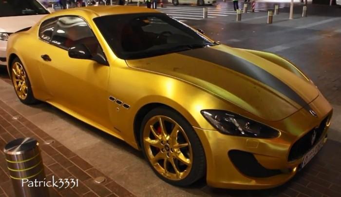 Maserati Gold Wrapped Dubai 1