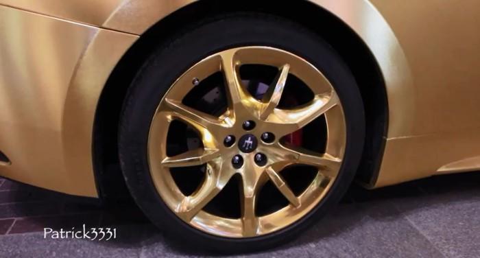 Maserati Gold Wrapped Dubai 2