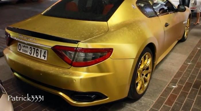 Maserati Gold Wrapped Dubai 3