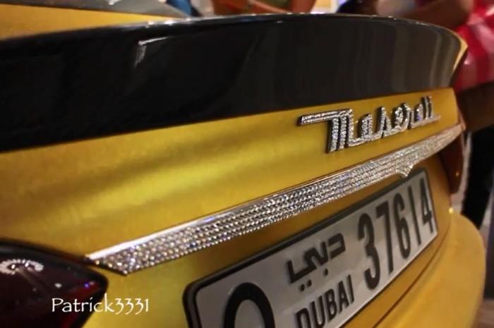Maserati Gold Wrapped Dubai 4