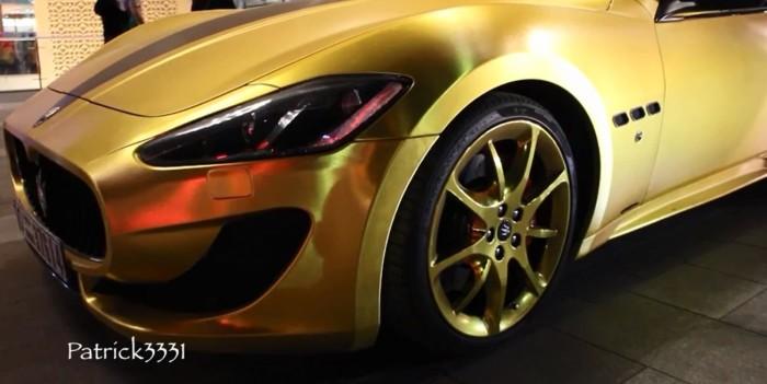 Maserati Gold Wrapped Dubai 5