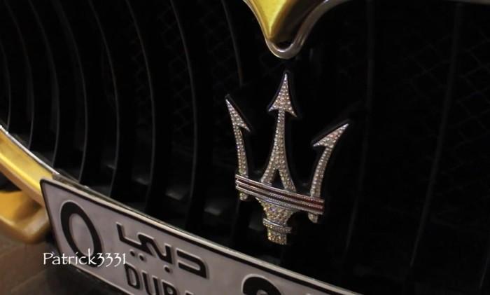 Maserati Gold Wrapped Dubai 6