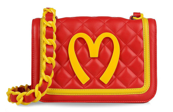 Moschino Junk Food Capsule Collection Quilted Leather Bag 1