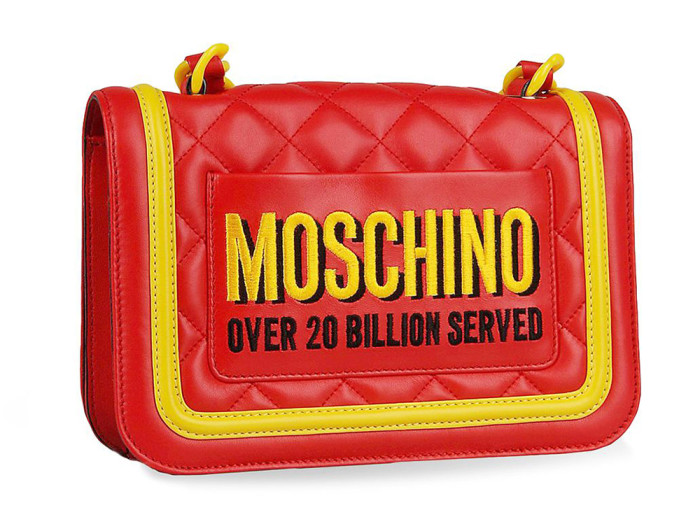 Moschino Junk Food Capsule Collection Quilted Leather Bag 2