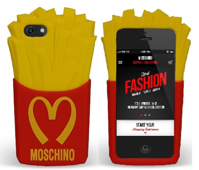 Moschino Junk Food Capsule Collection Quilted Leather Bag 3