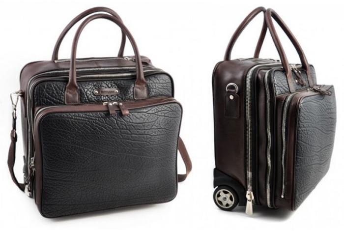 Borlino Conquistatore Rolling Briefcase Walnut