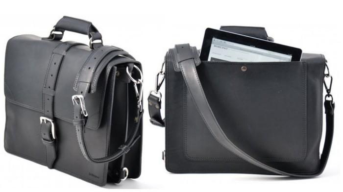 Borlino Vachetta Classic Briefcase Onyx