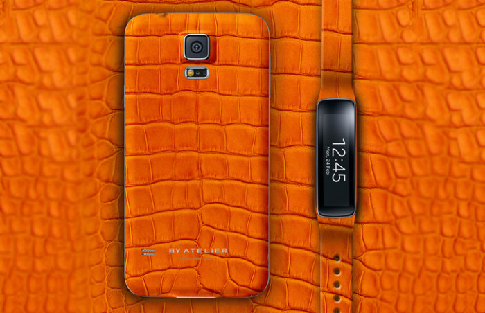 By Atelier Alligator Leather Samsung Galaxy S5 1