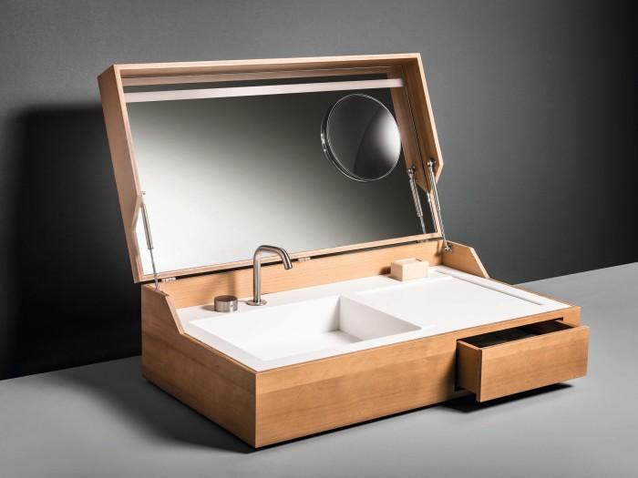 Hidden Wooden Washbasin 2