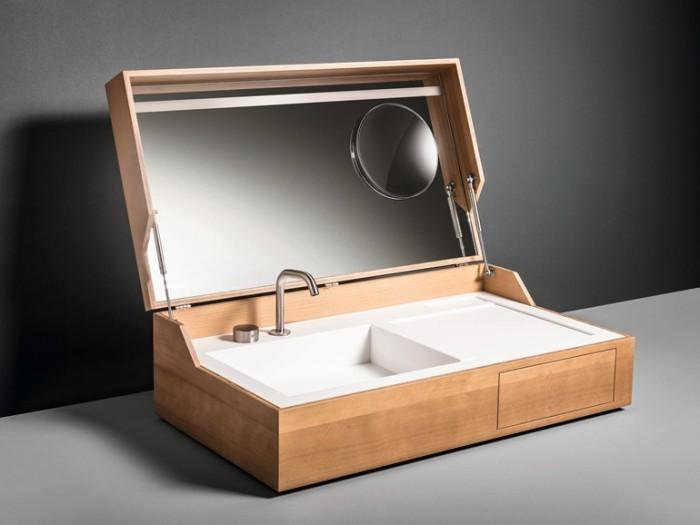 Hidden Wooden Washbasin 3