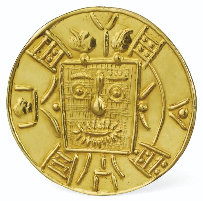 Picasso Ceramics Auction Gold Pendent