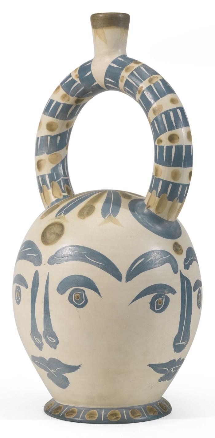 Picasso Ceramics Auction Large Aztec Vase With Four Faces