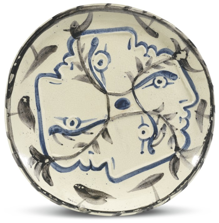 Picasso Ceramics Auction Terracotta Plate