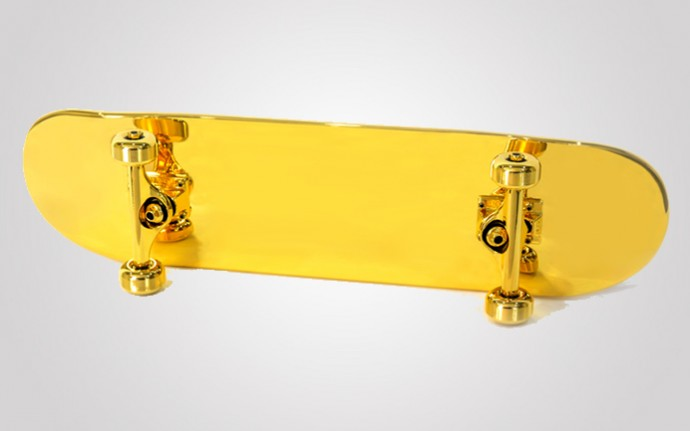 Shut Gold Plated Skateboard 1