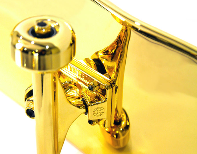 Shut Gold Plated Skateboard 2