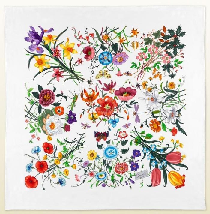 Gucci Flora Print Scarf Chelsea Flower Show 1