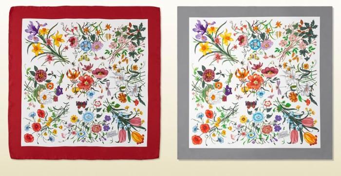 Gucci Flora Print Scarf Chelsea Flower Show 2