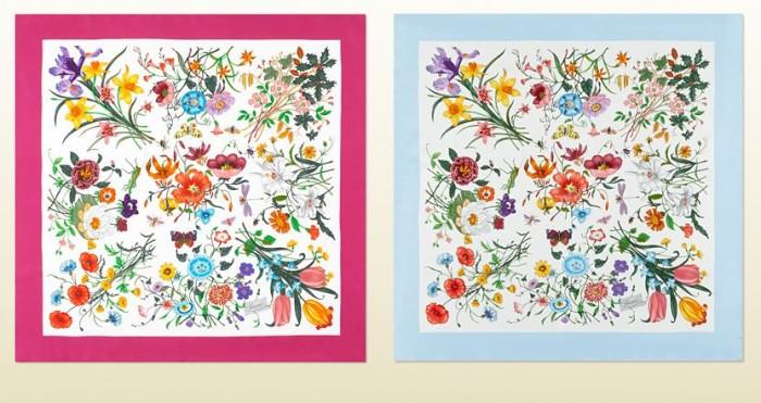 Gucci Flora Print Scarf Chelsea Flower Show 3