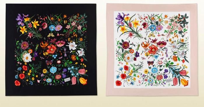 Gucci Flora Print Scarf Chelsea Flower Show 4