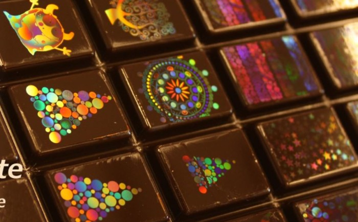 Holographic chocolates 1